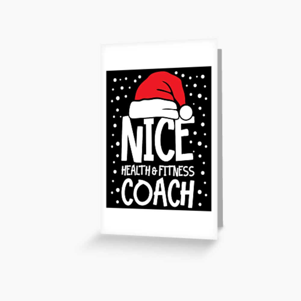 Nice Fitness Coach - Personal Trainer Christmas Gift Greeting Card