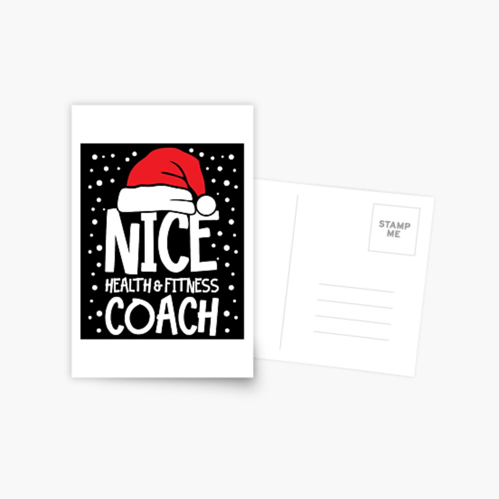 Nice Fitness Coach - Personal Trainer Christmas Gift Postcard