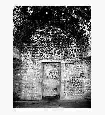 Cliffs of Dover - WWII Caves with Graffiti Photographic Print
