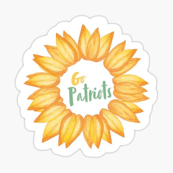 Patriots Sunflower Sticker