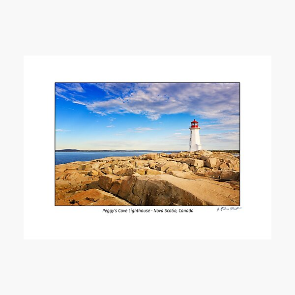 Lighthouse at Peggy's Cove, Nova Scotia, Canada Photographic Print