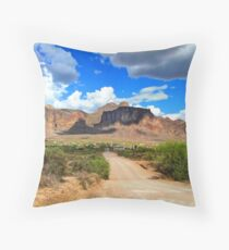 Superstition Mountains-5 Throw Pillow