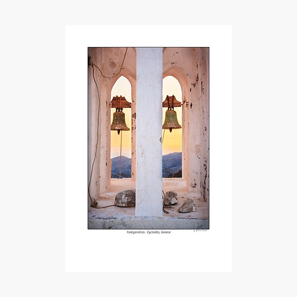 Churchtower in Folegandros, Cyclades Islands, Greece Photographic Print