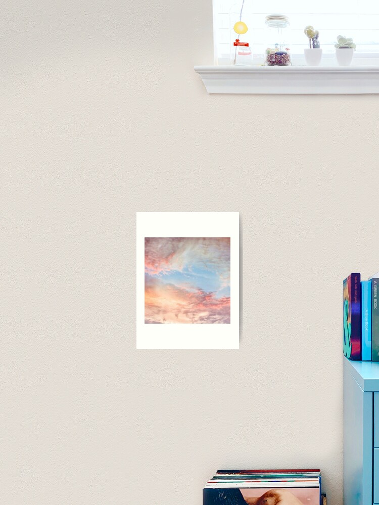 pink aesthetic sunset clouds art print by freshfroot redbubble redbubble
