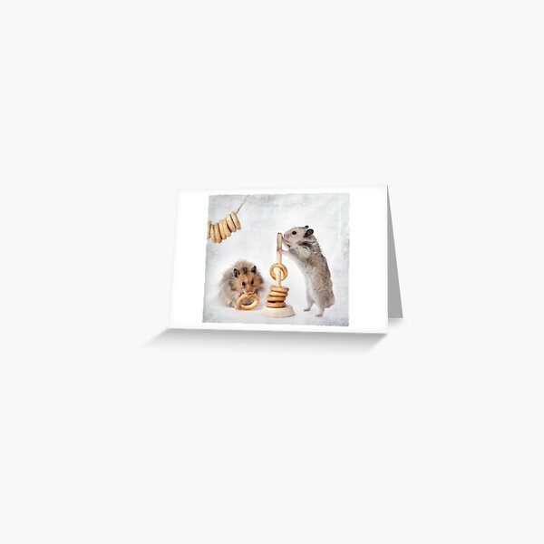 hamsters are Greeting Card
