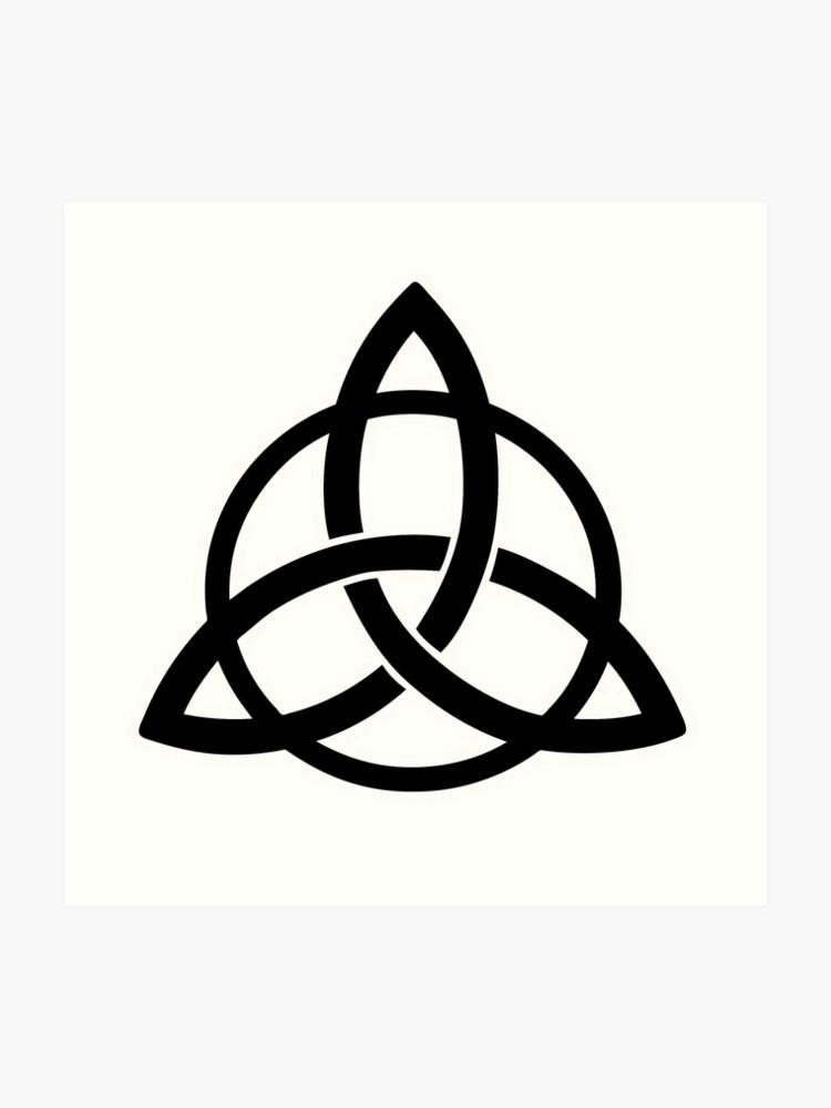 Triquetra Tribal Tattoo Viking Symbol Art Print