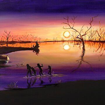 Menindee Sunset by Ochresands