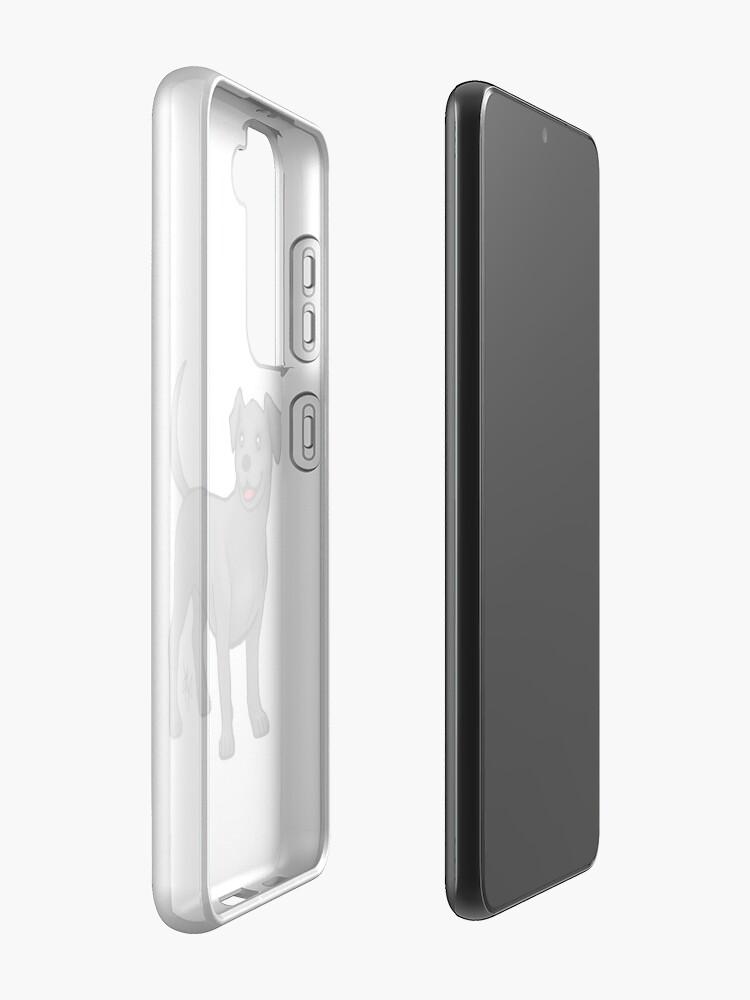 Alternate view of Labrador Retriever - Black Case & Skin for Samsung Galaxy
