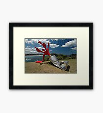 Red Paint Tube @ Sculptures By The Sea Framed Print