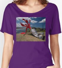 Red Paint Tube @ Sculptures By The Sea Women's Relaxed Fit T-Shirt