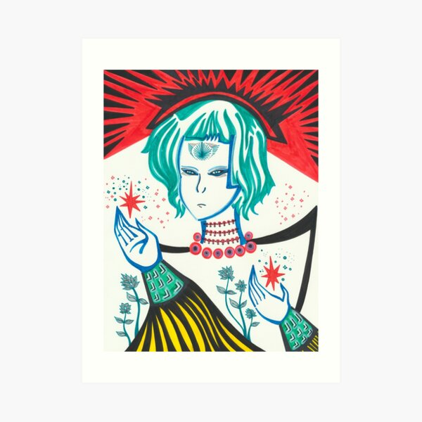 The White Empress Art Print