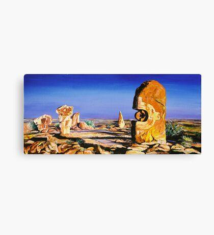 Broken Hill Sculptures Canvas Print