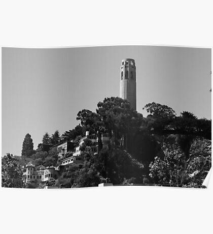 Coit Tower atop Telegraph Hill Poster