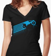 Grid Riders (B) Women's Fitted V-Neck T-Shirt