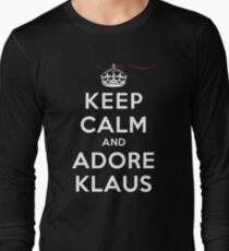 Keep Calm and Adore Klaus From Vampire Diaries DS Long Sleeve T-Shirt