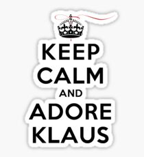 Keep Calm and Adore Klaus From Vampire Diaries LS Sticker