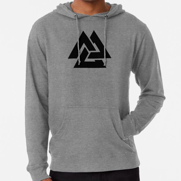 Valknut Tribal Cool Viking Tattoo Design Lightweight Hoodie By Huggymauve Redbubble
