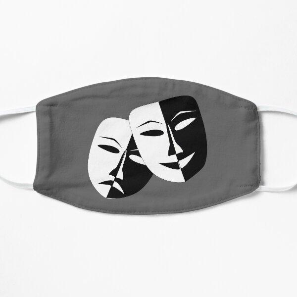 Comedy & Tragedy Drama Masks Flat Mask