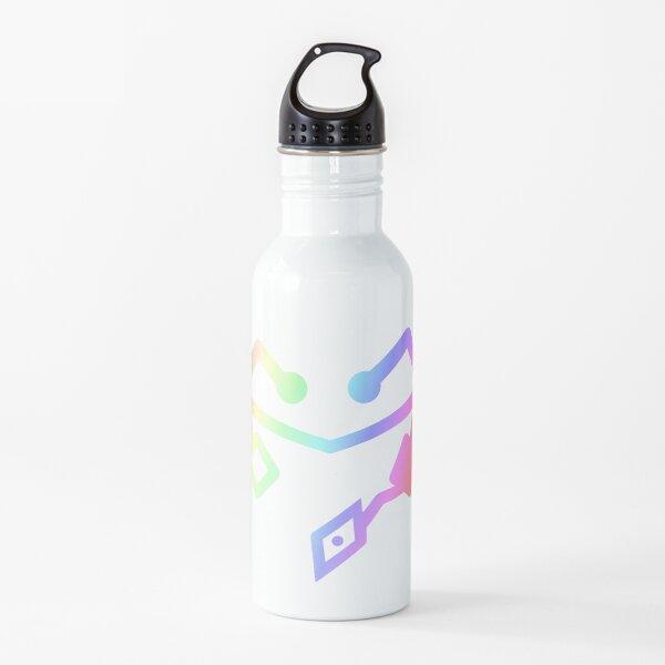 Ella ra corazón primero los arco iris Botella de agua