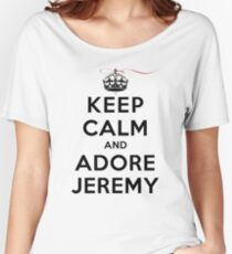Keep Calm and Adore Jeremy From Vampire Diaries LS Women's Relaxed Fit T-Shirt