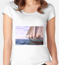 Aboard The Adventurer Women's Fitted Scoop T-Shirt