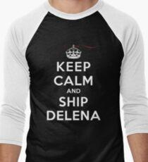 Keep Calm and SHIP Delena (Vampire Diaries) DS Men's Baseball ¾ T-Shirt