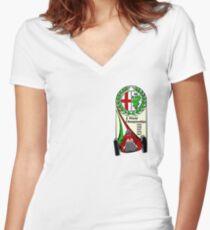 Alfa Romeo - 5 World Championships Women's Fitted V-Neck T-Shirt
