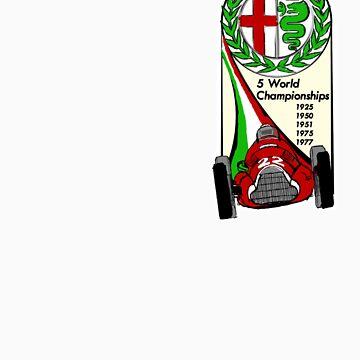Alfa Romeo - 5 World Championships by aussie105