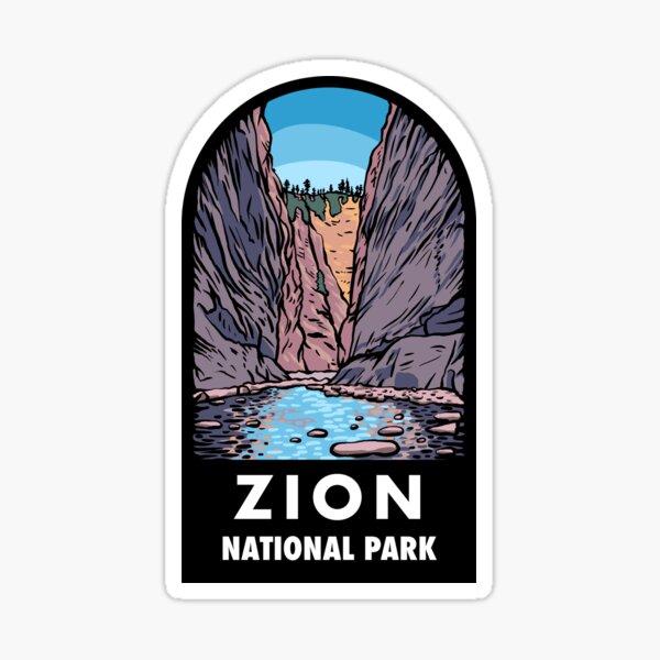 Zion National Park Badge Sticker