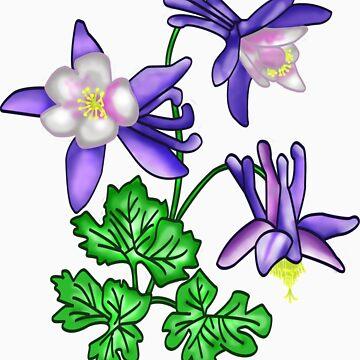 Columbine Flower - Colorado's State Flower by BFGSM0121