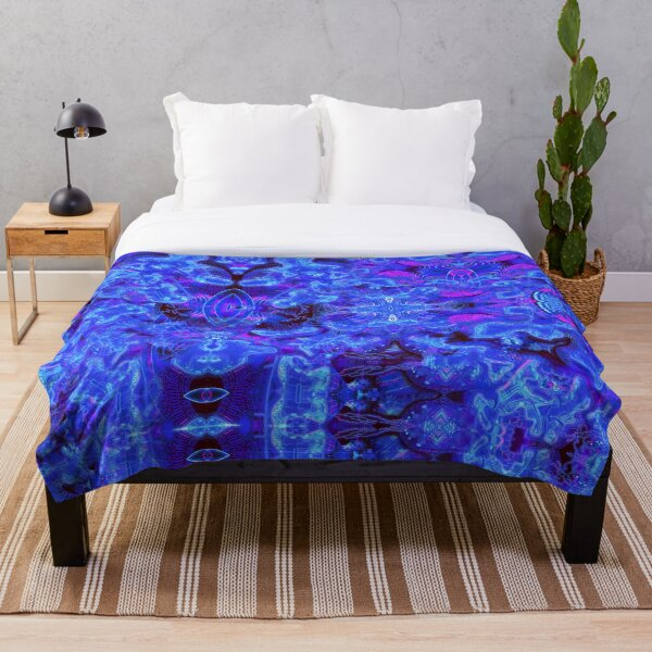 LuminEssence Abstract Psychedelic Pattern Throw Blanket