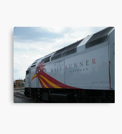 New Mexico Railrunner Locomotive, Santa Fe to Albuquerque Commuter Train, Santa Fe, New Mexico Canvas Print