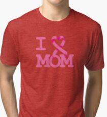 I Heart MOM - Breast Cancer Awareness Tri-blend T-Shirt