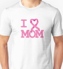 I Heart MOM - Breast Cancer Awareness Unisex T-Shirt