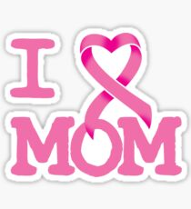 I Heart MOM - Breast Cancer Awareness Sticker