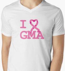 I Heart GMA - Breast Cancer Awareness Men's V-Neck T-Shirt