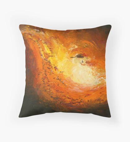 "The Land No 3 ""Waiting"" Throw Pillow"