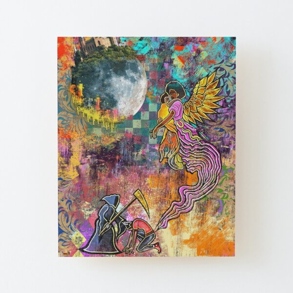 Fly To The Moon (Dark Thought's, Harsh Truth's) Wood Mounted Print