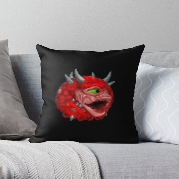 Poggers cacodemon Throw Pillow