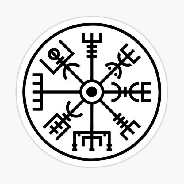 tatuaje usado por Björk en Islandia Pegatina