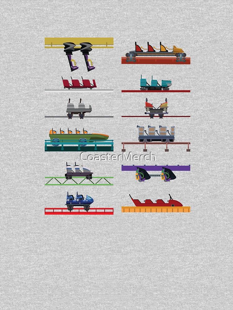 Six Flags Over Texas Coaster Cars Design by CoasterMerch