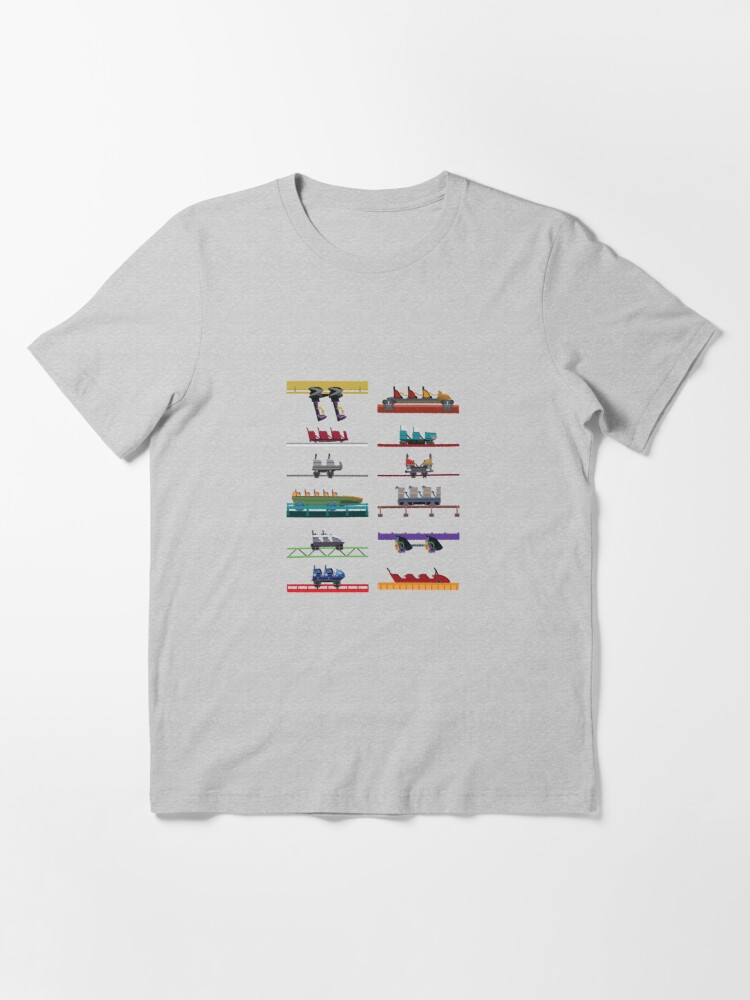 Alternate view of Six Flags Over Texas Coaster Cars Design Essential T-Shirt