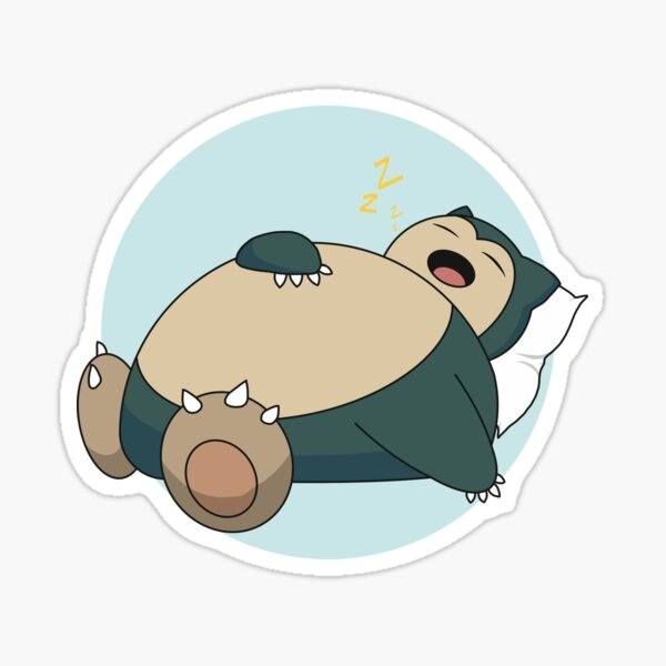 Sleeping Snorlax with Pillow (Yellow Z's) Sticker