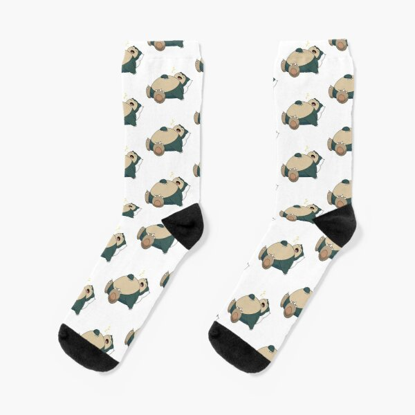 Sleeping Snorlax with Pillow (Yellow Z's) Socks