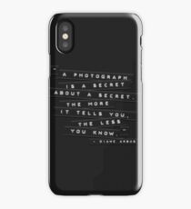 A Photograph Is A Secret Embossed Labels iPhone Case/Skin