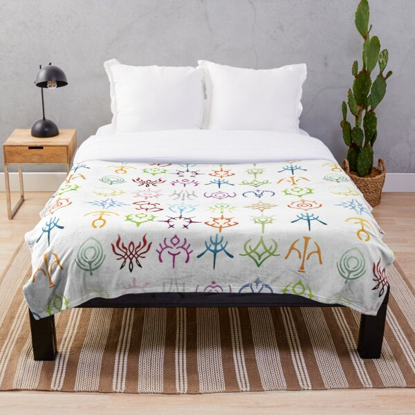 The crests - colored version  Throw Blanket