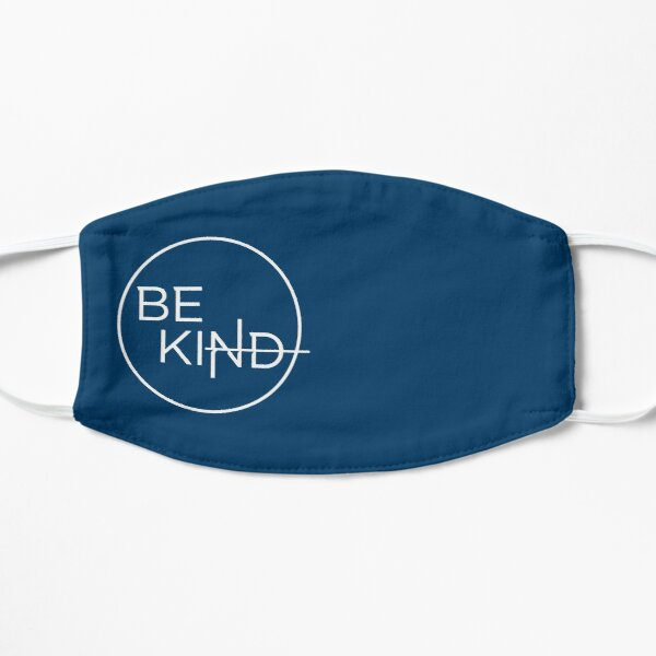 Be Kind in Simple White Circle Mask