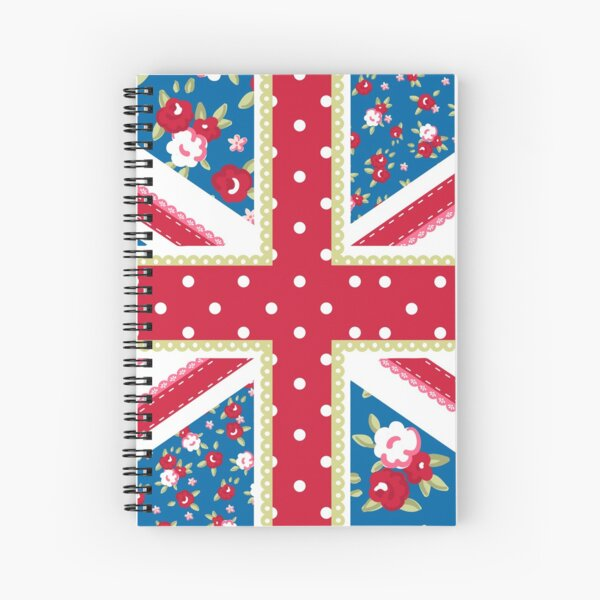 Shabby Chic Union Jack Spiral Notebook