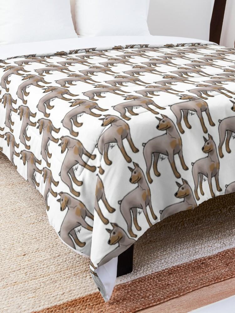 Alternate view of Doberman Pinscher - Fawn and Tan Comforter