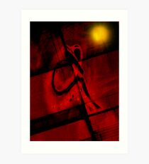 The Art Of Melancholic Dependence... Trapped Within Art Print